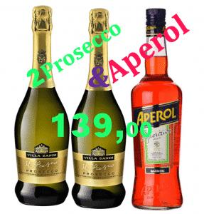 Prosecco Oferta: 2 Villa Sandi + Aperol